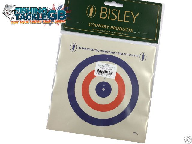 25 Bisley Coloured Targets 17cm