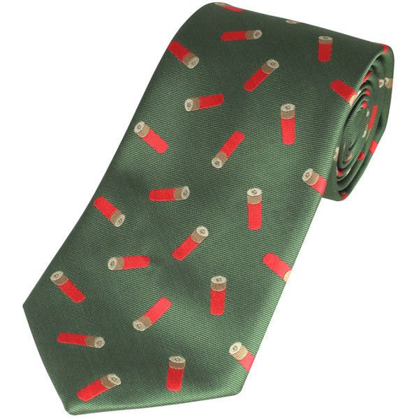 Gents Neck Tie - Green with Cartridges